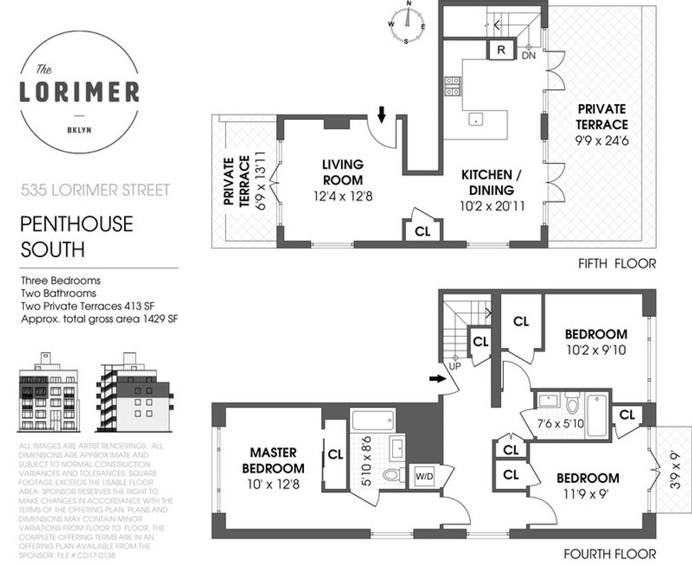 535 Lorimer Street #PHSOUTH floor plan