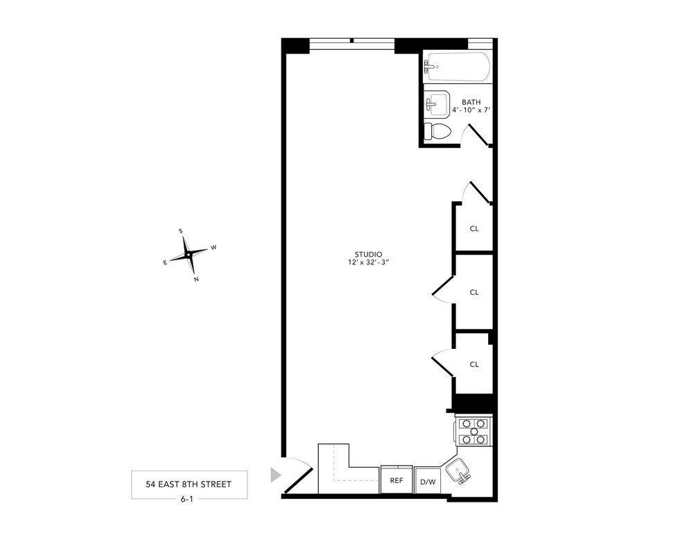25-19 43rd Avenue #PH7 floor plan