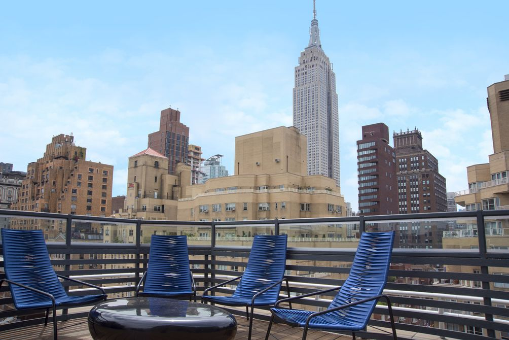 View of Empire State Building from 41 Park Ave roof deck