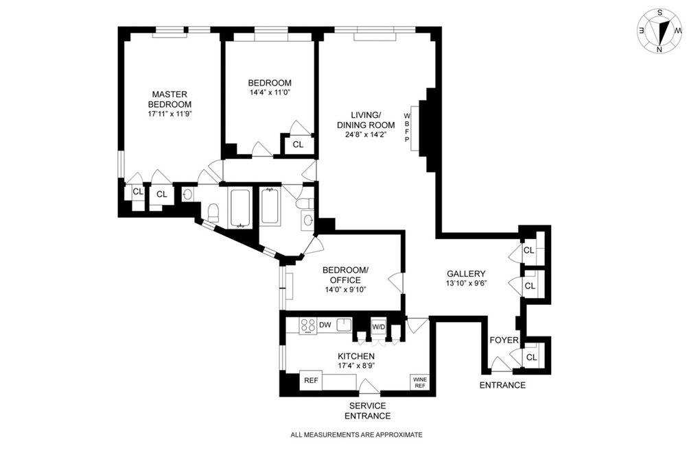 419 East 57th Street #12C floor plan
