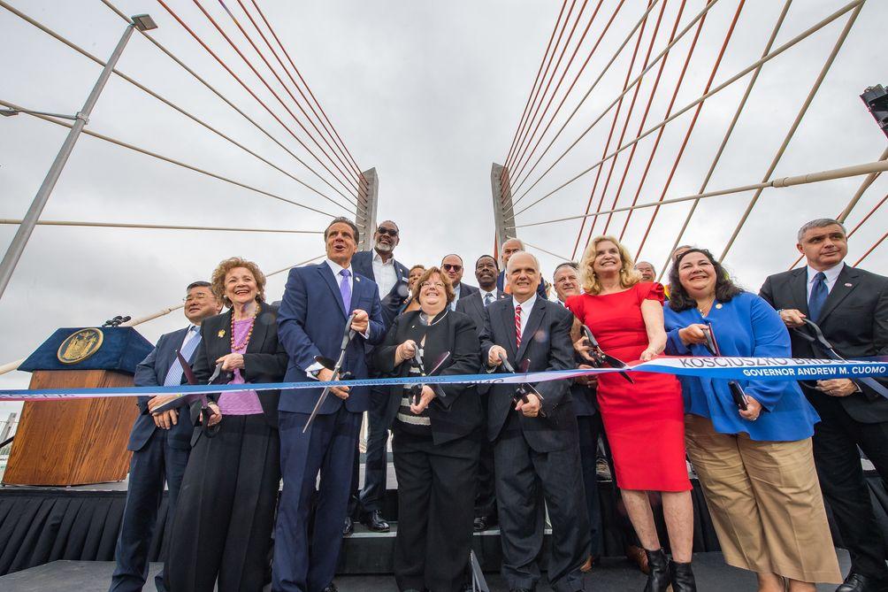 Kosciuszko Bridge, ribbon cutting, opening ceremony, Governor Andrew M. Cuomo, flickr