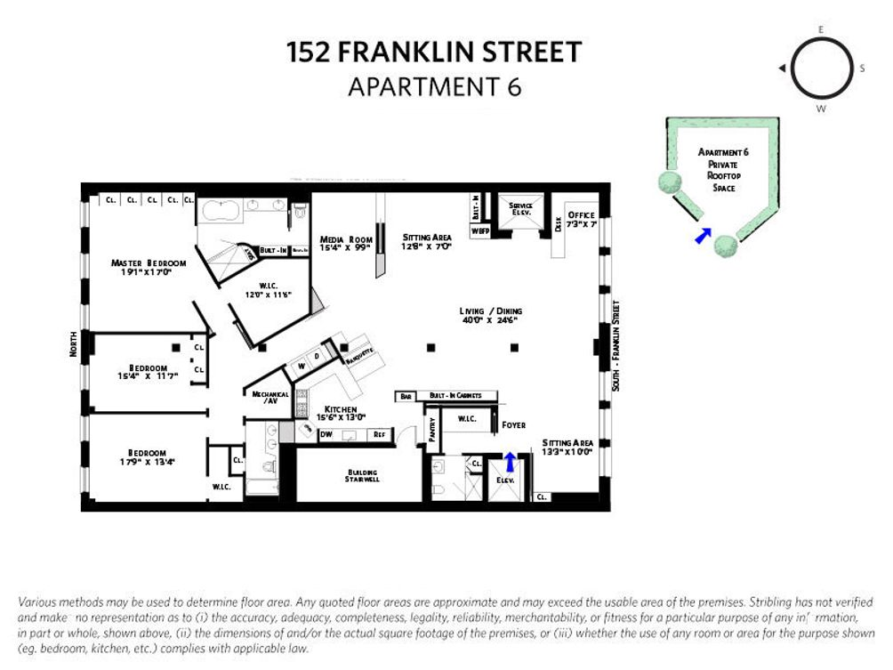 152 Franklin Street #6FL floor plan
