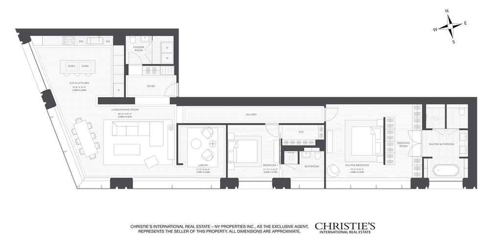 551 West 21st Street #8B floor plan