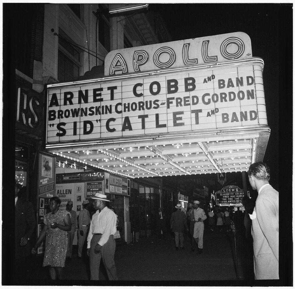 Harlem, Apollo Theater in 1946, The Library of Congress