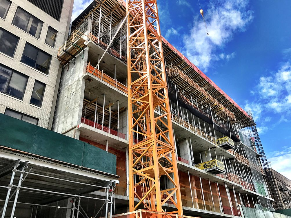 Harlem's Future Tallest Building Craned and Rising