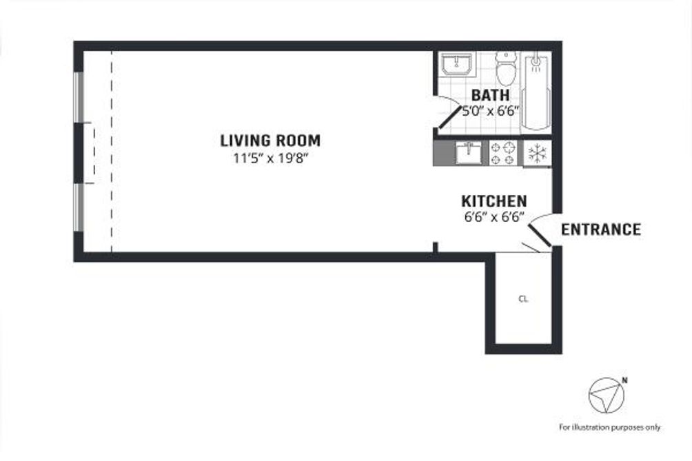 24 Fifth Avenue #407 floor plan