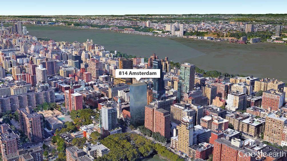 814 Amsterdam Avenue aerial view