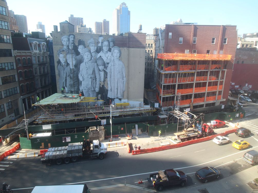 100 Franklin Street exterior construction