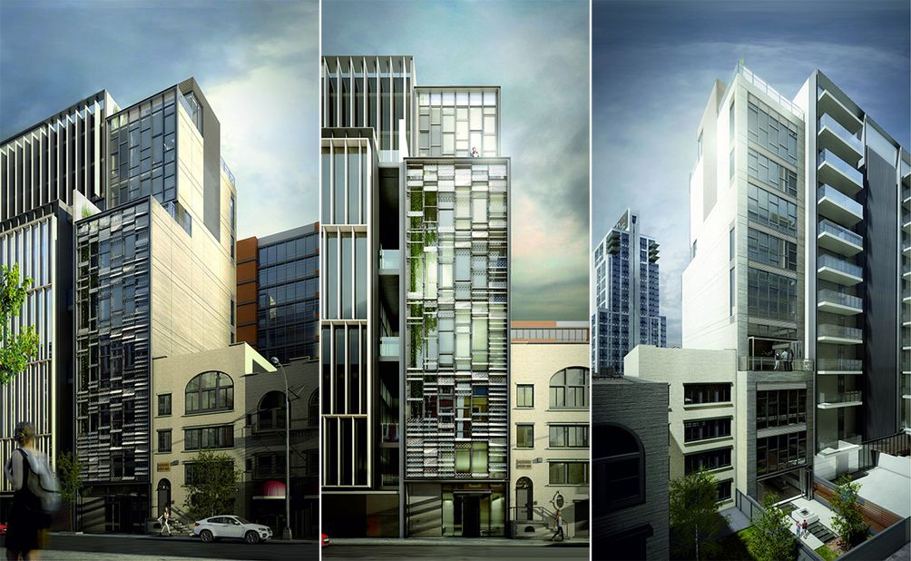 Casa Moderne, 534 West 29th Street. Renderings Of Front And Rear Facades.