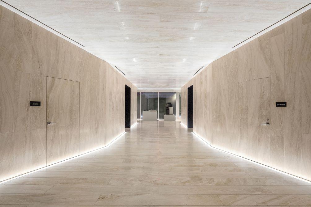 Lobby, Minimalist, 121 East 22nd Street, OMA New York, Shohei Shigematsu, Rem Koolhaas, Toll Brothers, Gemdale