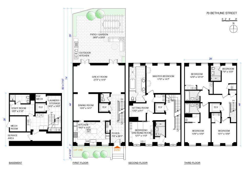 70 Bethune Street floor plan