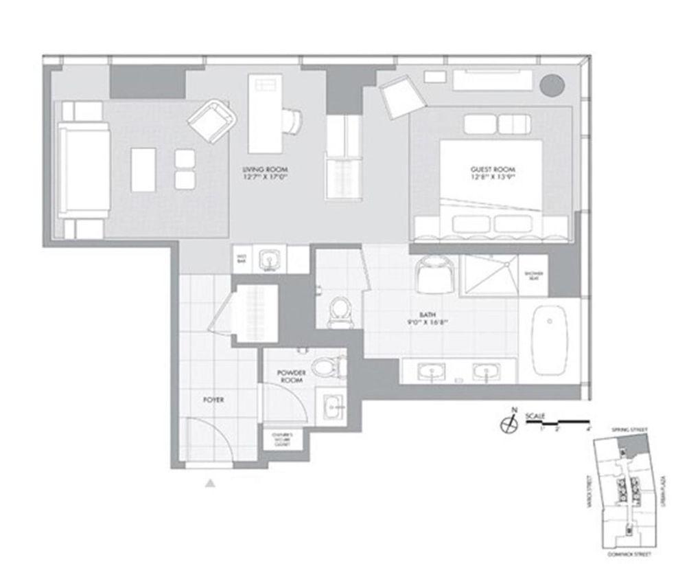 246 Spring Street #3810 floor plan