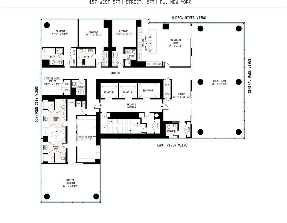 157 West 57th Street #87 floor plan