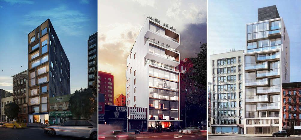 New buildings on Chrystie Street