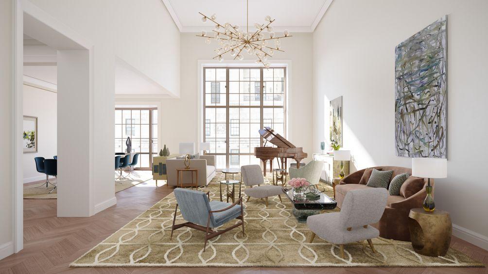 109 East 79th Street living room