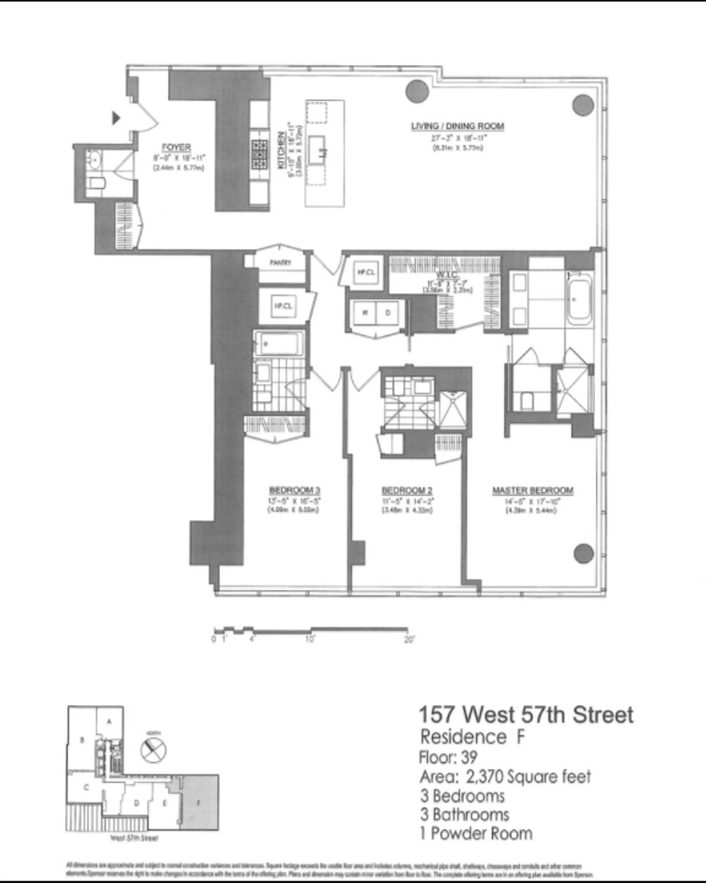 157 West 57th Street #39F floor plan