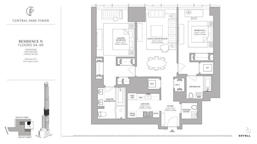 Central Park Tower floor plan