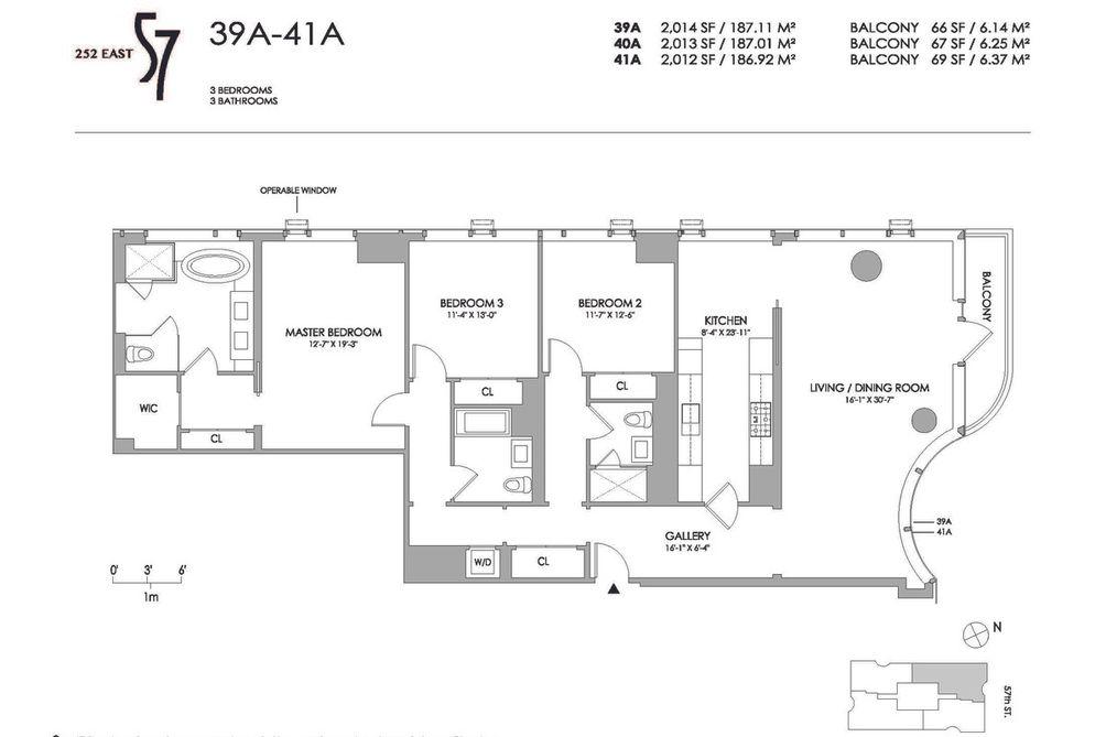 252 East 57th Street #39A floor plan