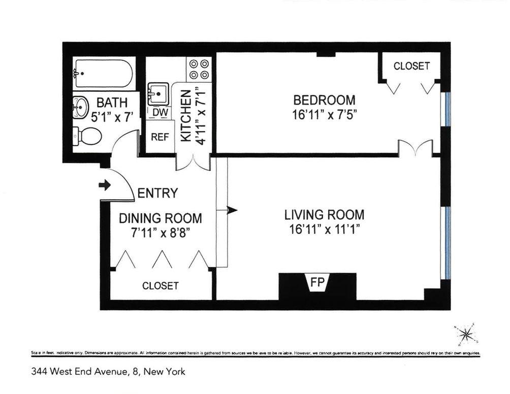344 West End Avenue #8 floor plan