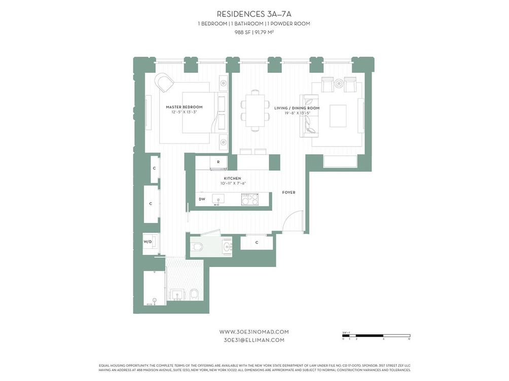 30 E 31 Floorplan of units 3A to 7A