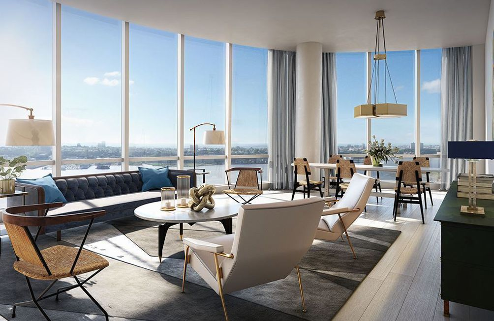 Fifteen Hudson Yards interiors