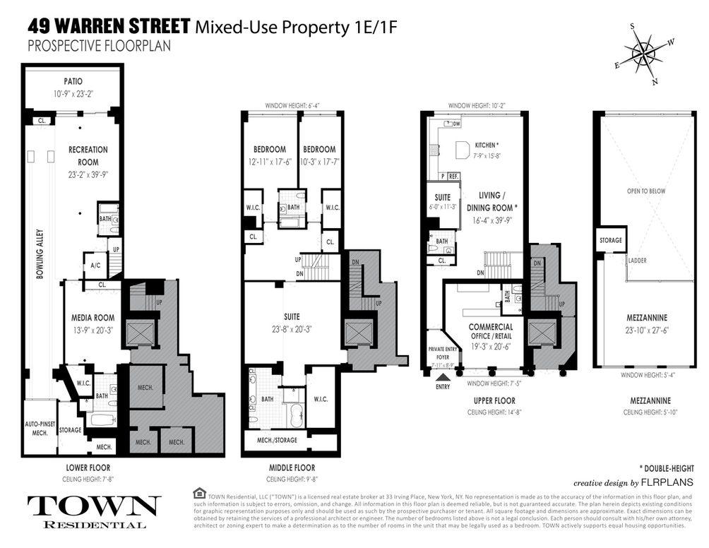 49 Warren Street #1EF floor plan