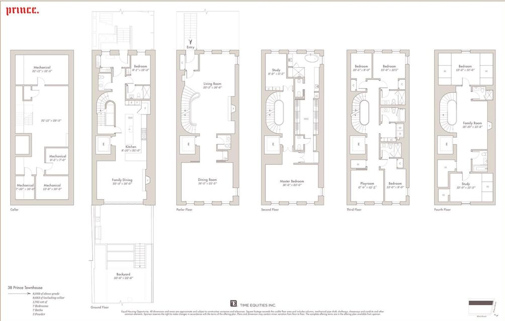 38 Prince Street #TH floor plan