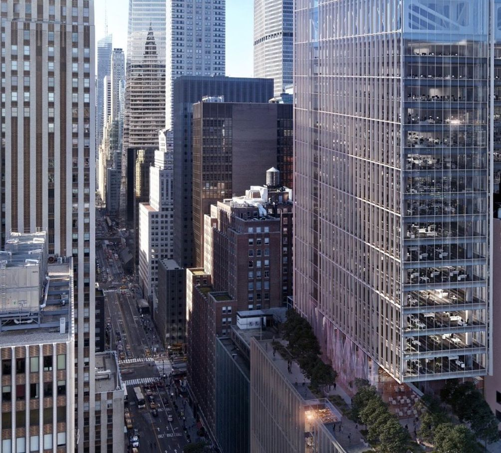 First Rendering Of Office Tower Replacing Pfizer S 42nd Street Headquarters Cityrealty