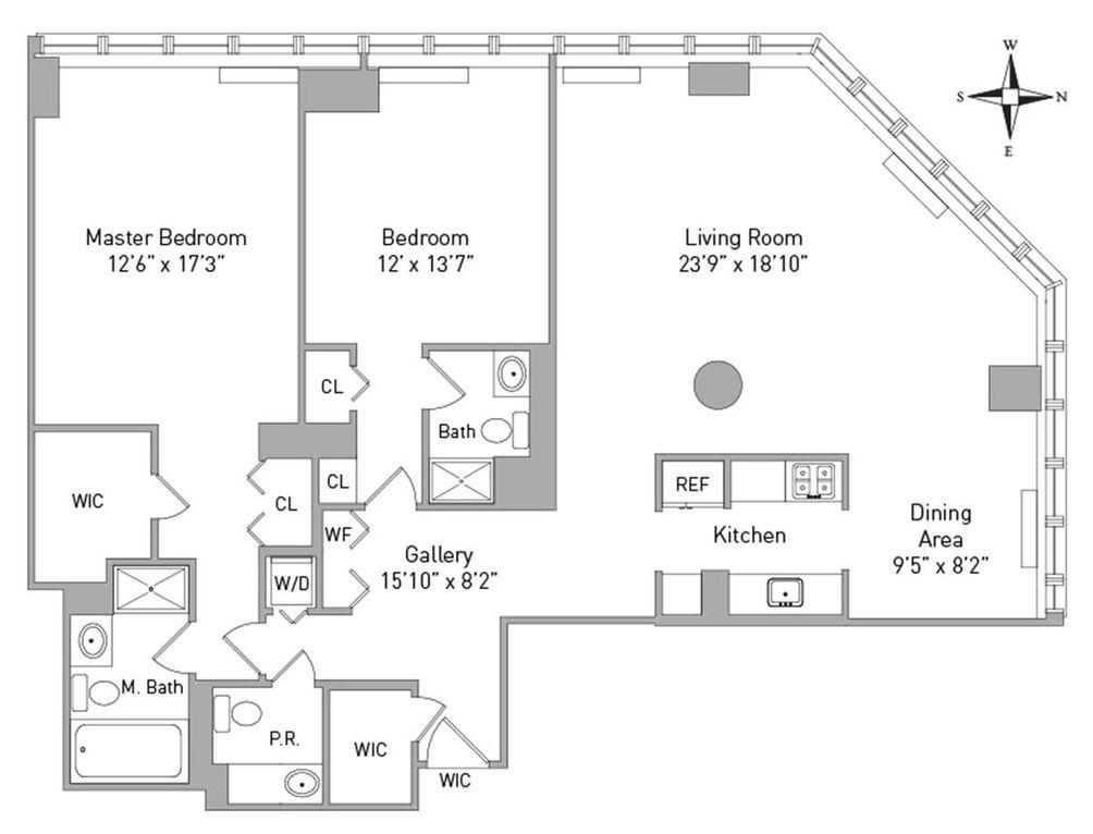 160 West 66th Street #46A floor plan