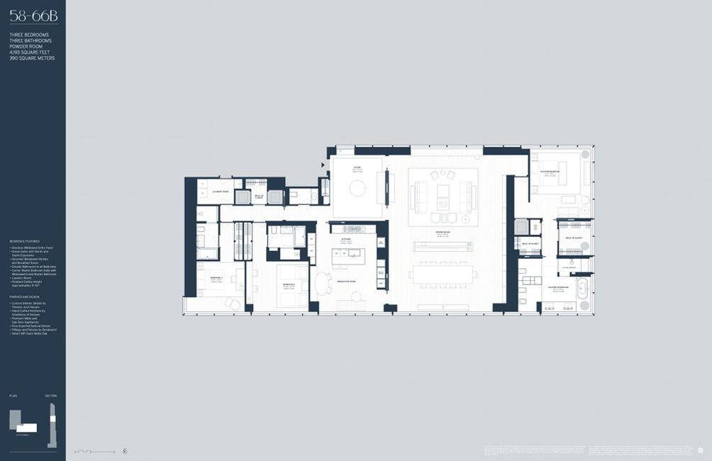 157 West 57th Street #59B floor plan