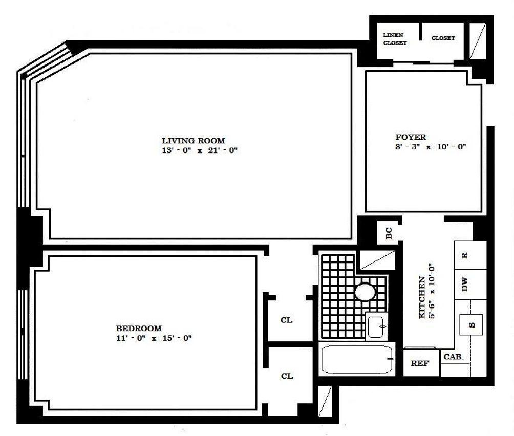 305 East 72nd Street #8F floor plan