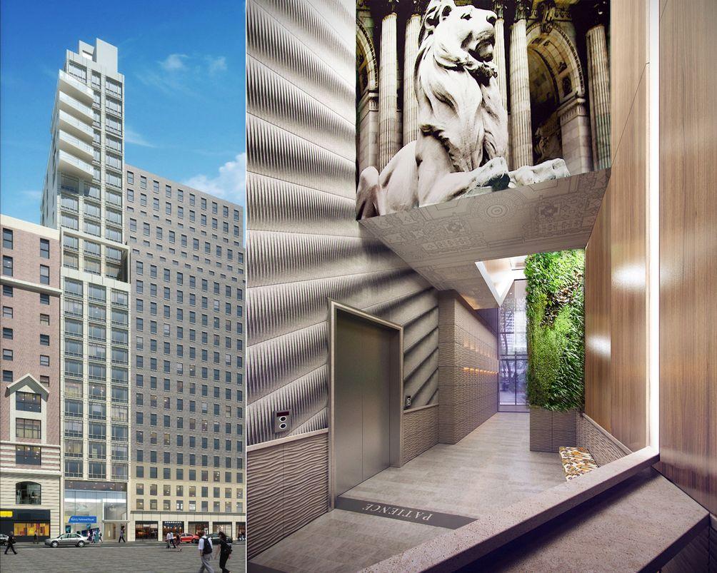 Midtown rentals, Skyline Developers, Manhattan apartments, Bryant Park construction