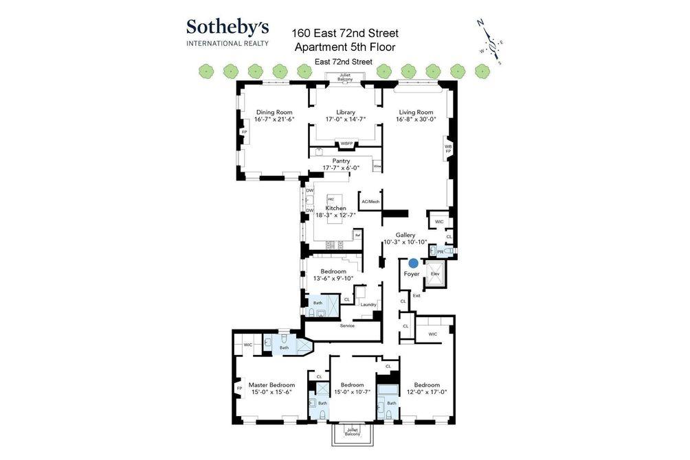 160 East 72nd Street floor plan