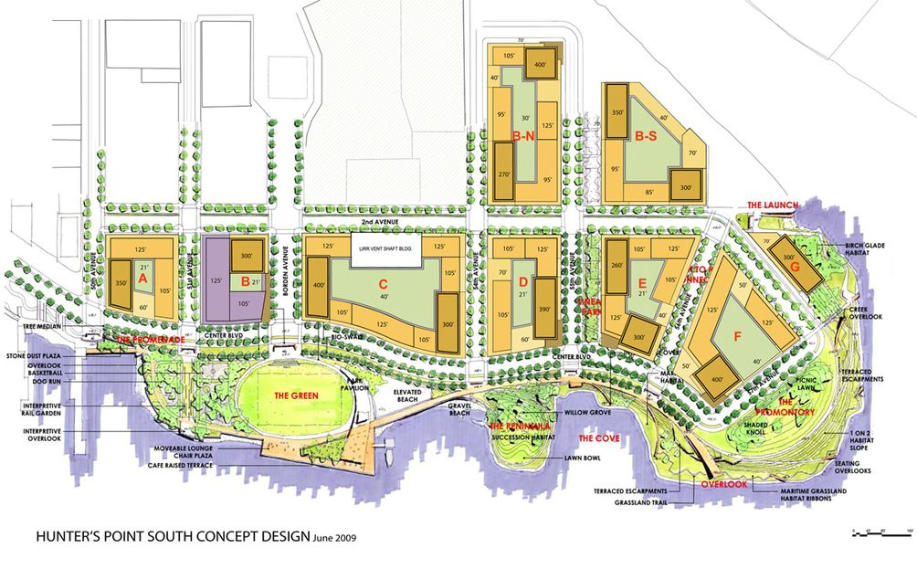 Hunter's Point South Master Plan