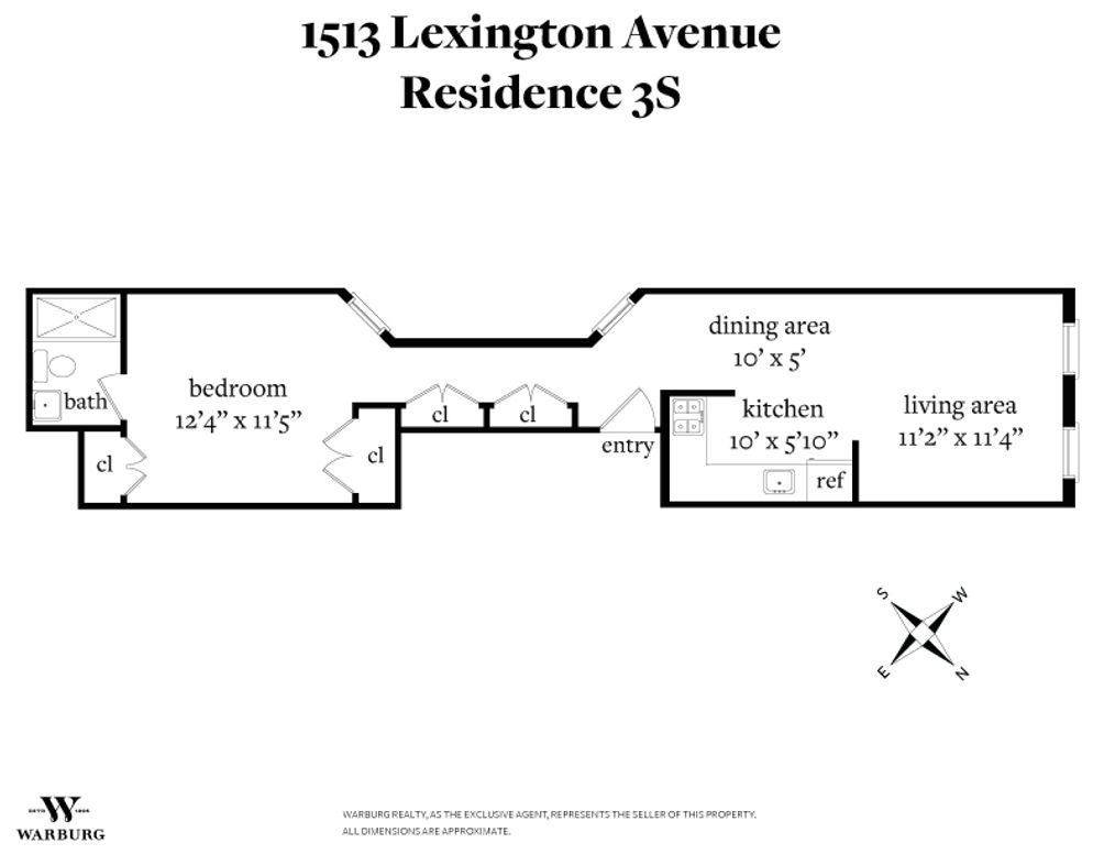 1513 Lexington Avenue #3S floor plan