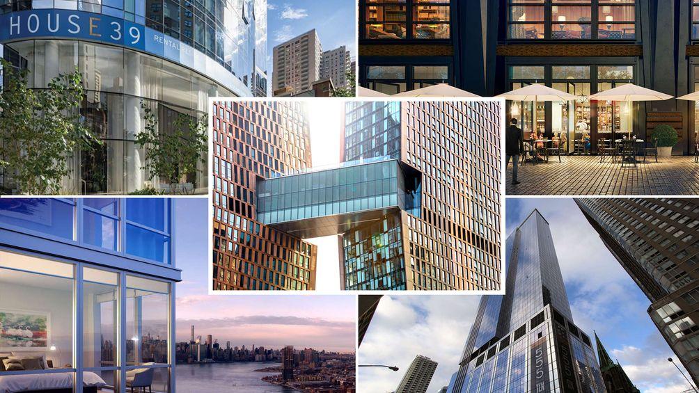 Photo compilation of CityRealty's top ten rental buildings of 2017