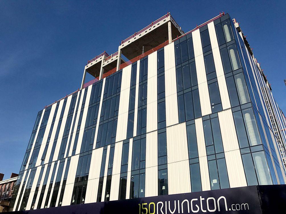 150 Rivington Street construction progress