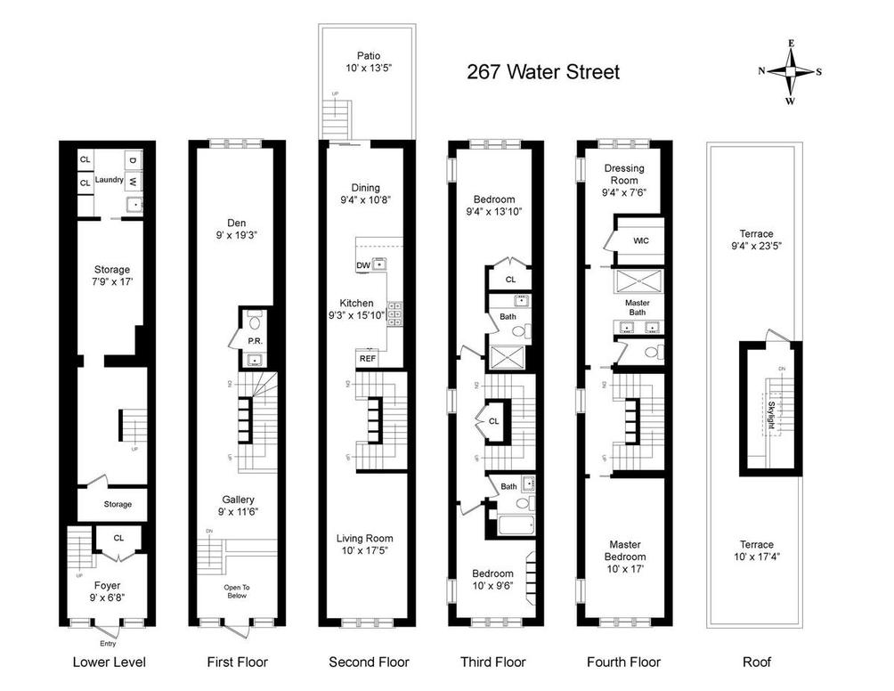 246 Front Street #TH floor plan
