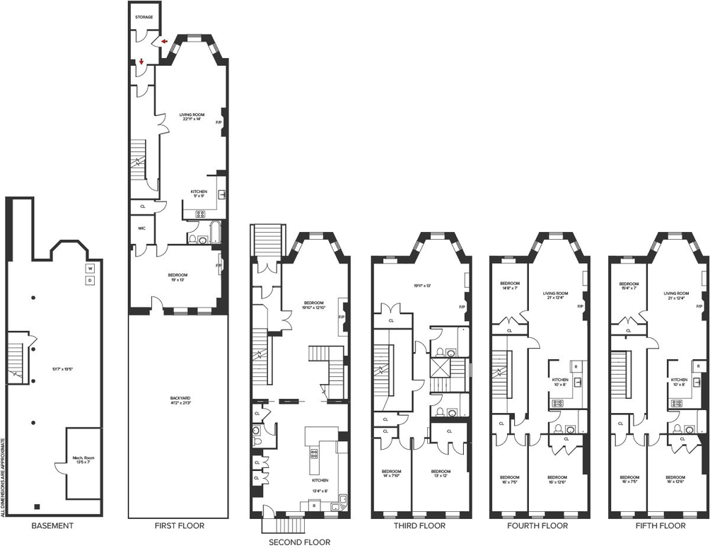 Rare 5 Floor Harlem Brownstone With Intact Details Lists For 4 7 Million Cityrealty