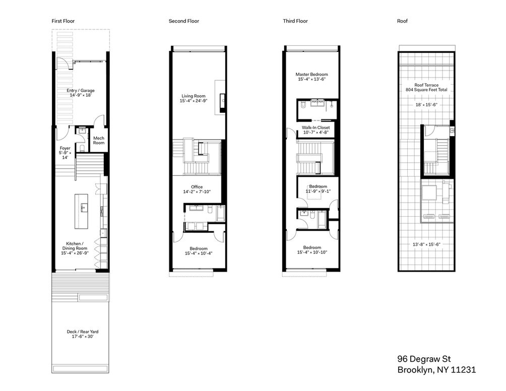 96-98 Degraw Street floor plan