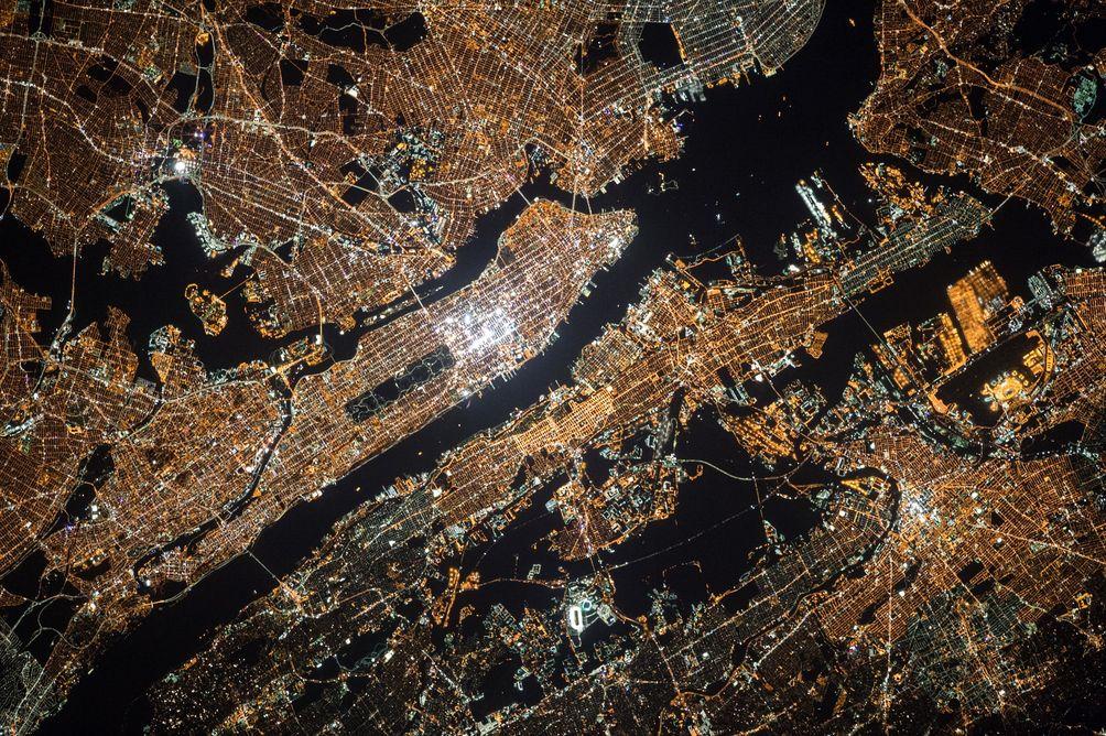 Lights satellite NYC