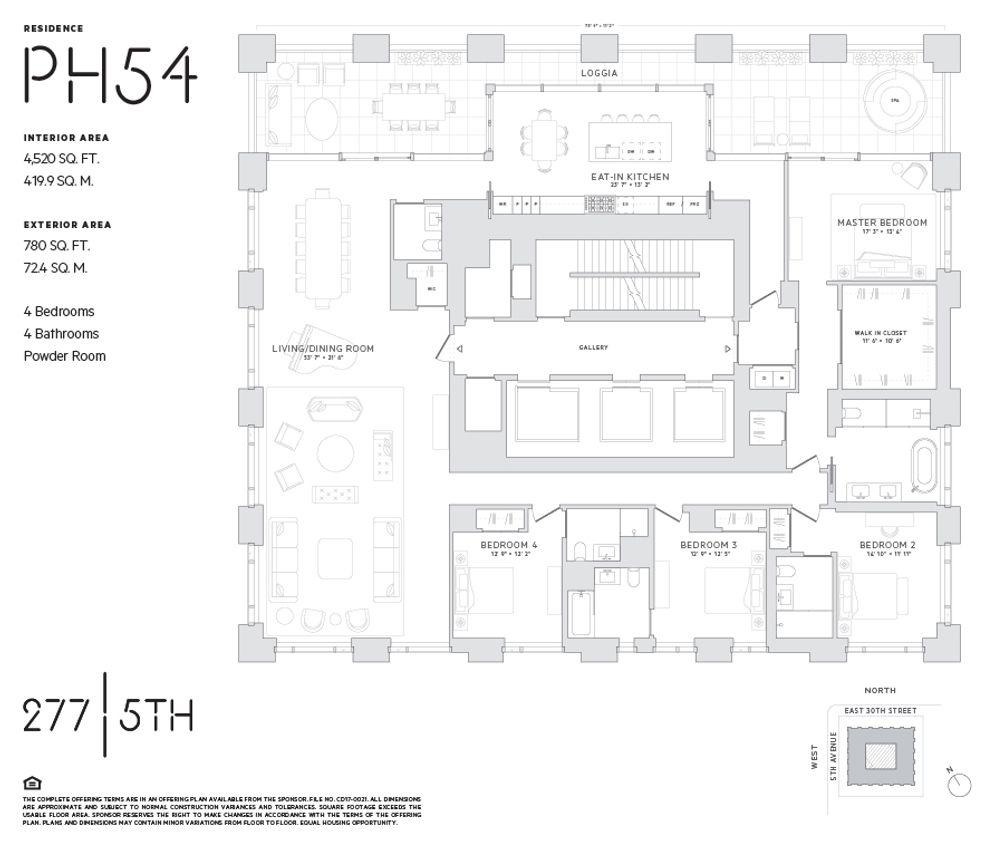 277 Fifth Avenue #PH54 floor plan