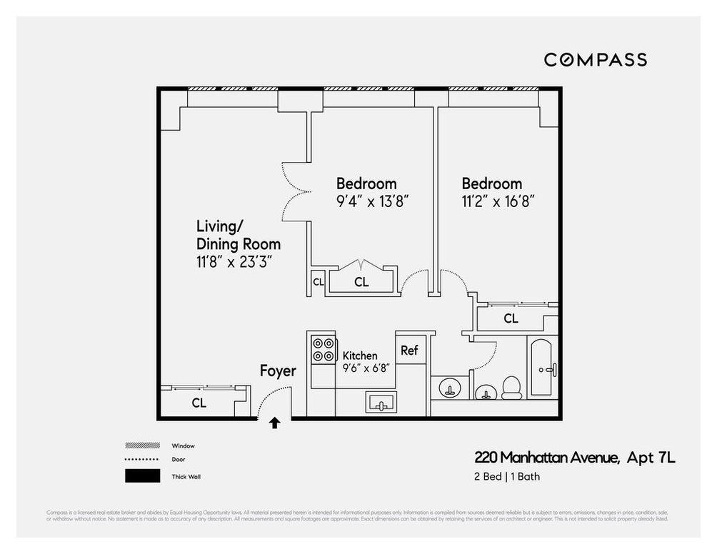 220 Manhattan Avenue #7L floor plan