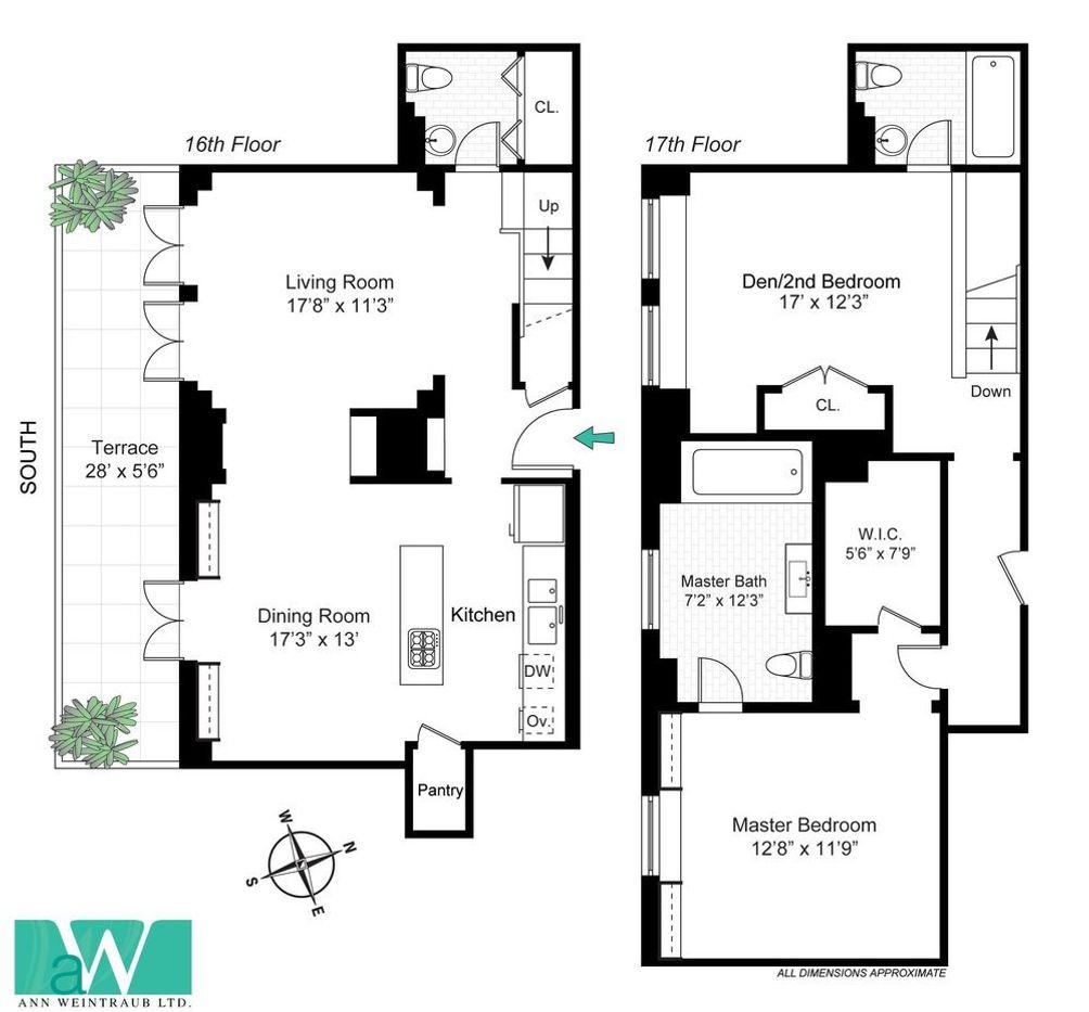 1 Fifth Avenue #16H floor plan