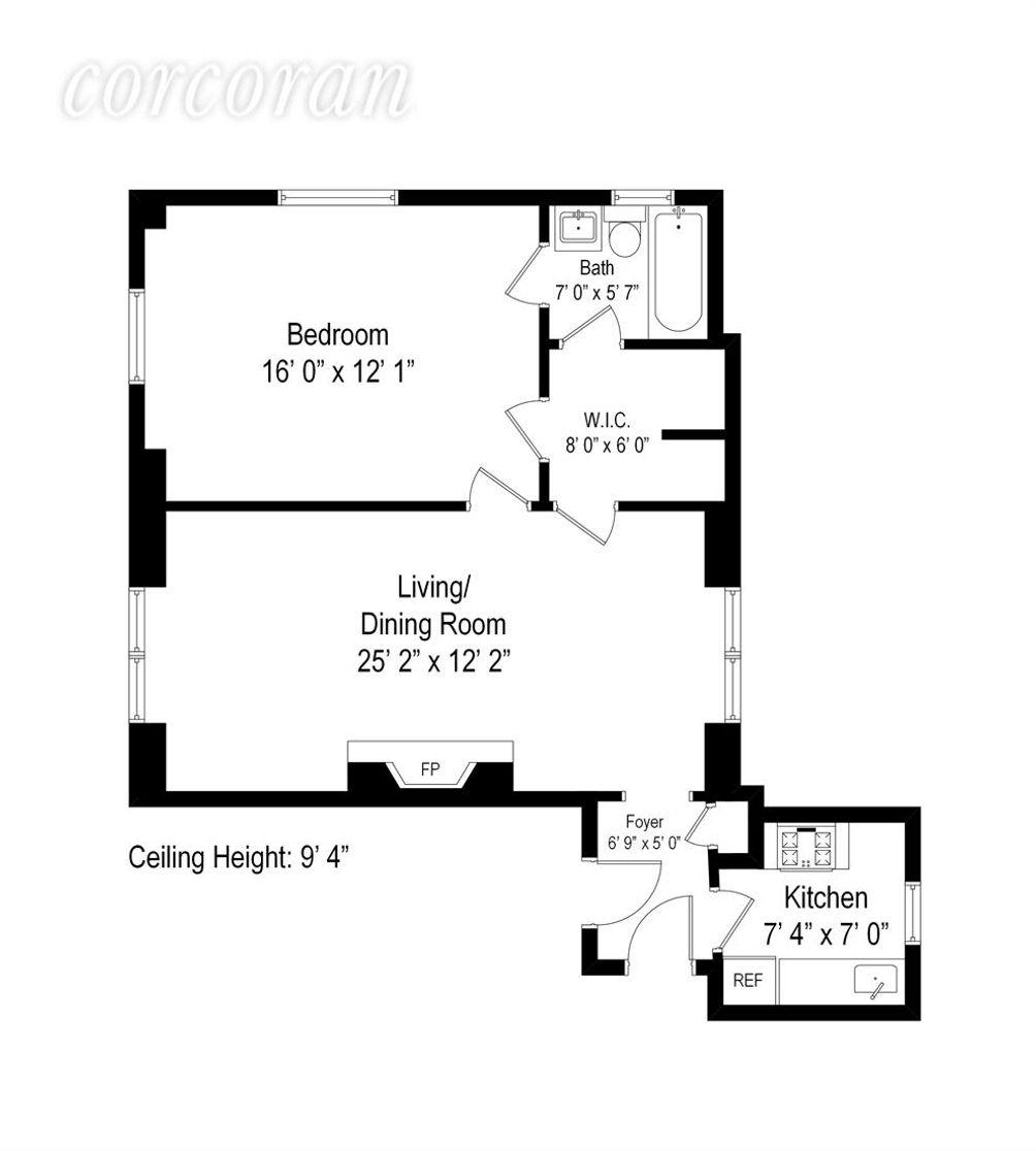 1215 Fifth Avenue #14D floor plan