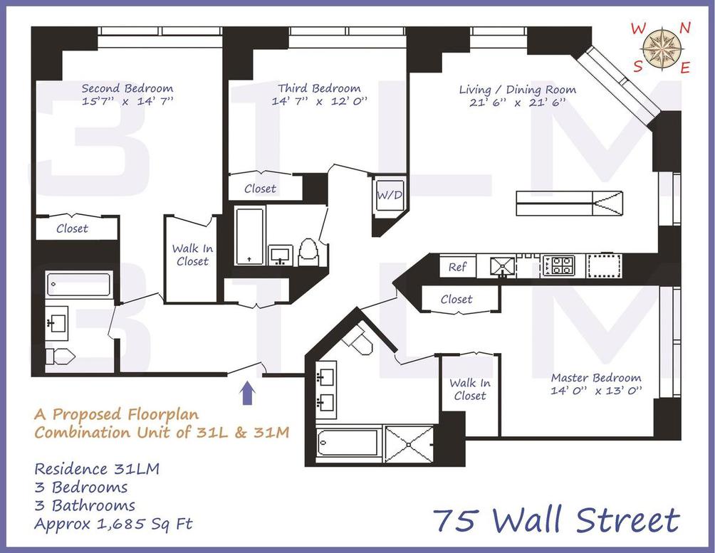 75 Wall Street #31LM floor plan