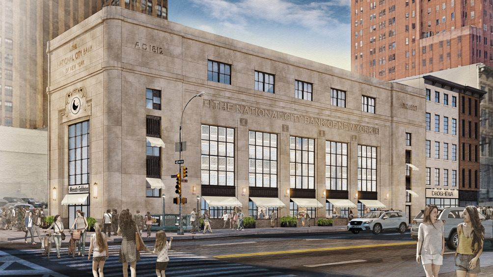 An Italian-style food hall is coming to Canal Street's historic First National City Bank building