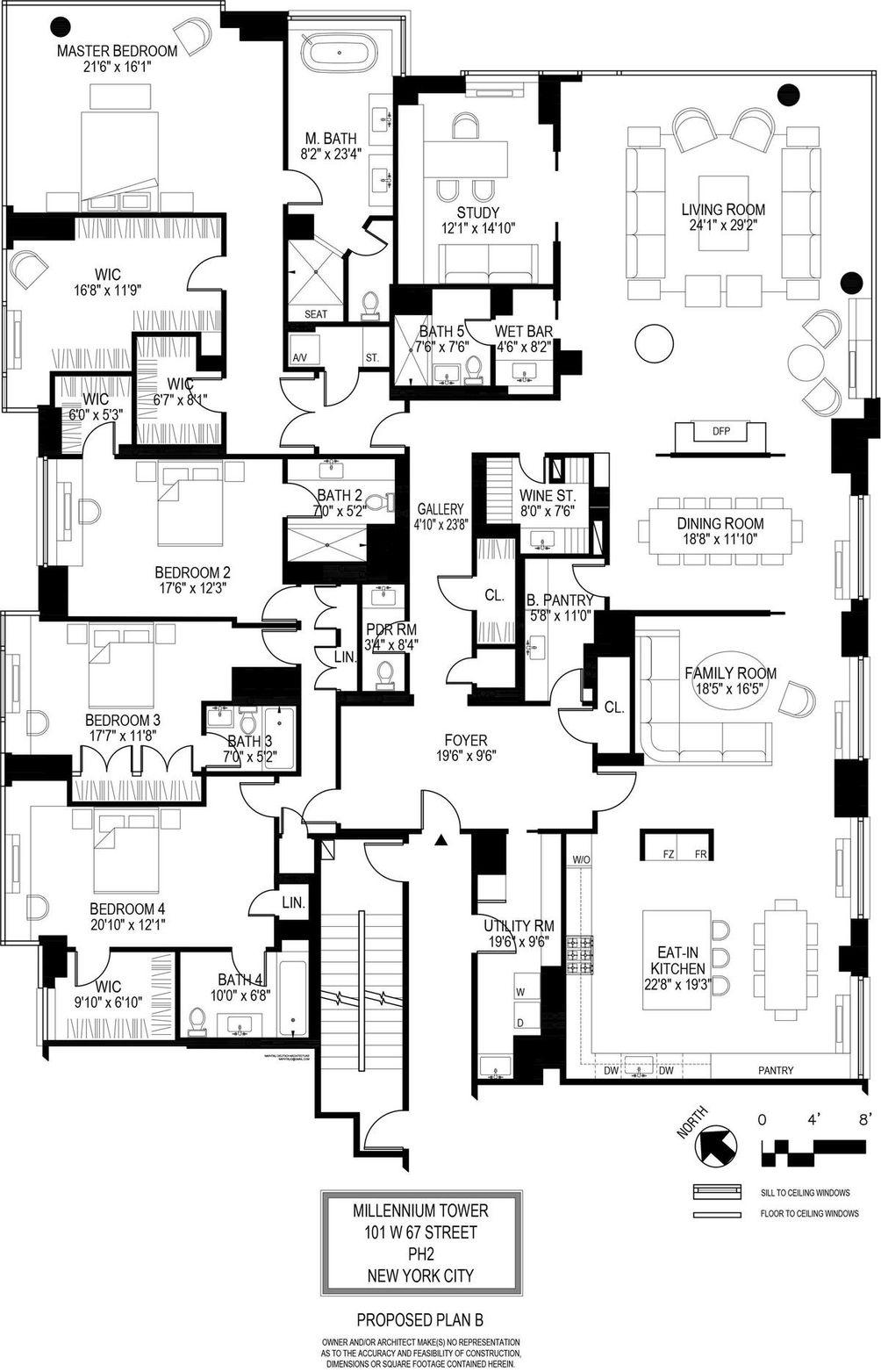 101 West 67th Street #PH2ABGH floor plan
