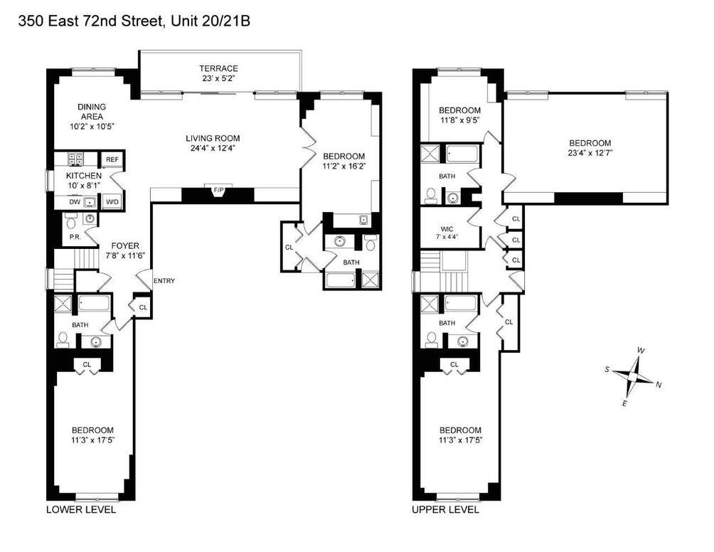 350 East 72nd Street #20/21B floor plan