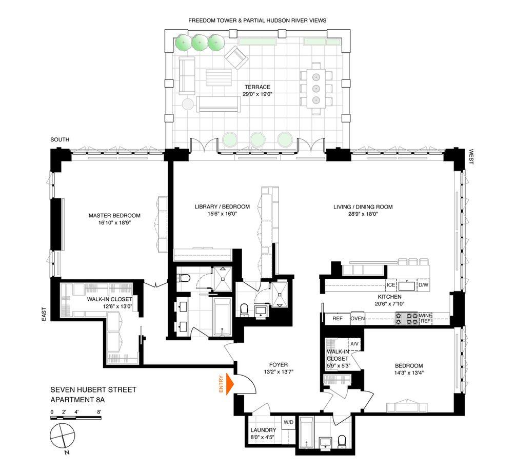 7 Hubert Street #8A floor plan